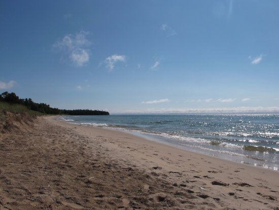 Sturgeon Bay, WI: Dog friendly beach at Whitefish State Park