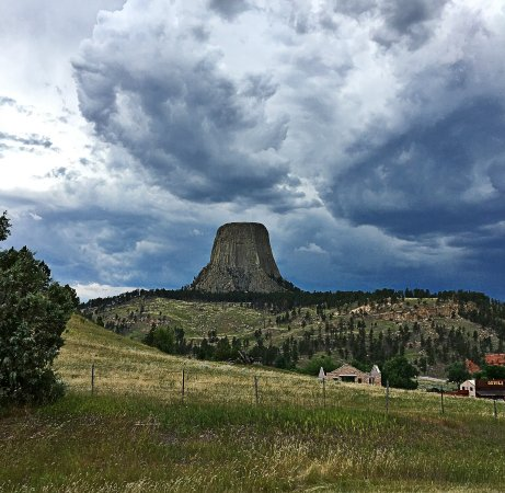 Devils Tower, WY: Storm moving in