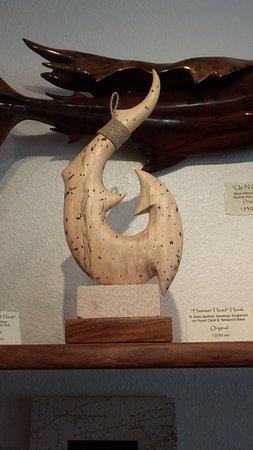 Tavernier, FL: hook wood carving