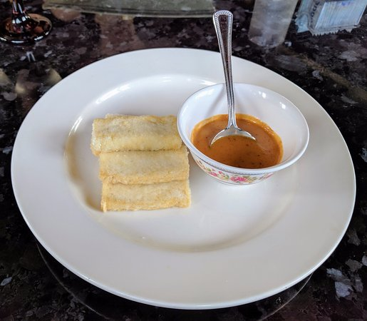 Westlake, OH: Fried Tofu with Peanut Sauce Appetizer
