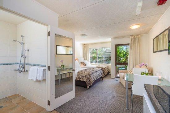 Takapuna, New Zealand: Accessible bathroom Poolside Studio