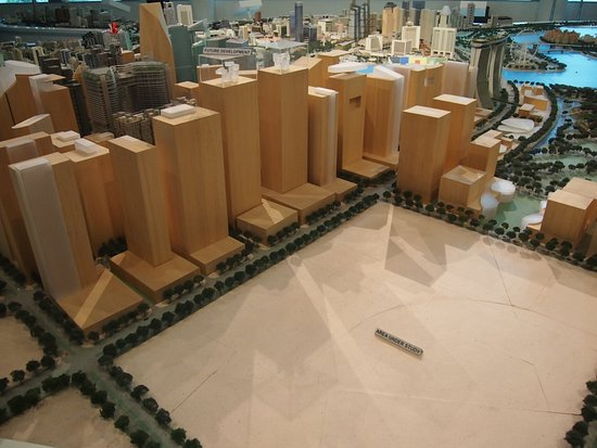 Raffles Place, Σιγκαπούρη: Singapore City Gallery - Town Planning