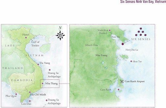 Six Senses Ninh Van Bay: Resort location