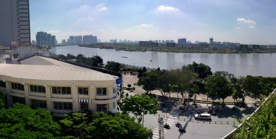 Hotel Majestic Saigon: View from rooftop dining area.