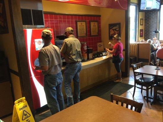 Live Oak, FL: The beverage area.