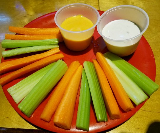 Hermosa Beach, CA: How about a side of Carrots, Celery, Ranch and CHEESE WHIZ!
