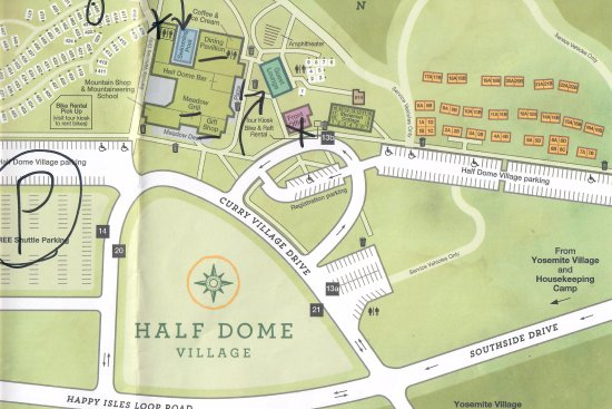 Map of Half Dome Village - Picture of Curry Village, Yosemite ... Yosemite Half Dome Map on tenaya lake yosemite map, cathedral range yosemite map, half dome hiking trail, illilouette yosemite map, tuolumne grove yosemite map, taft point yosemite map, glacier yosemite map, tunnel view yosemite map, redwood national park northern california map, el capitan half dome map, tenaya canyon yosemite map, matterhorn peak yosemite map, half dome cables, may lake yosemite map, badger pass yosemite map, eagle peak yosemite map, sentinel bridge yosemite map, yosemite mountain map, half dome topo map, fish camp yosemite map,