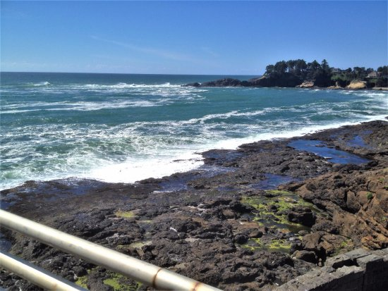 Depoe Bay, OR: outdoor view from the Whale Watching Center - Depot Bay, Oregon