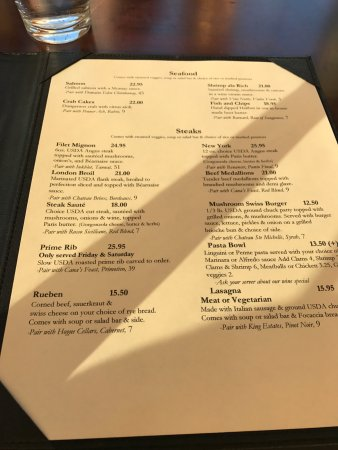 Silverton, OR: Menu 2 summer 2017