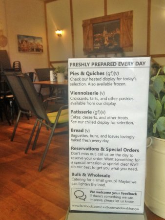 Moruya, Australien: Some of the lunch options