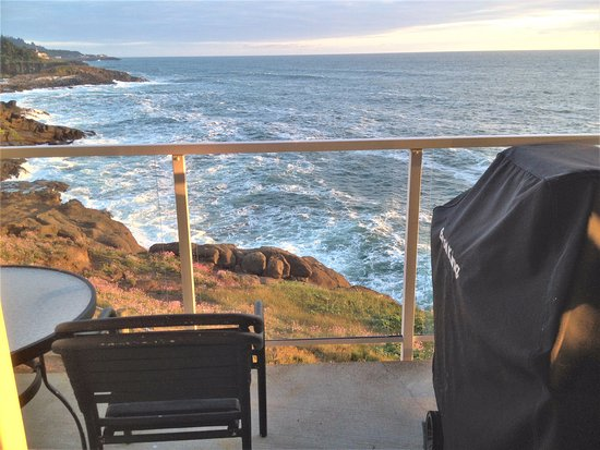 Depoe Bay, OR: view from the deck off the master bedroom