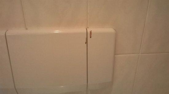 Schloss Beichlingen: ekliger Toilettenspülkasten