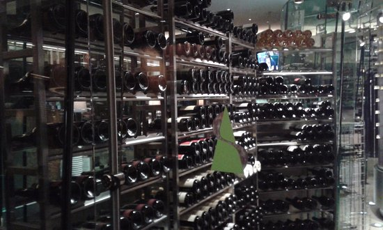 Summit at The Broadmoor: The other side of the wine cellar -