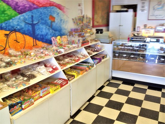 Depoe Bay, OR: interior of Ainslee's candy store - Depot Bay, Oregon