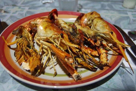 Ambatoloaka, Madagascar: cena di aragosta e gaberoni