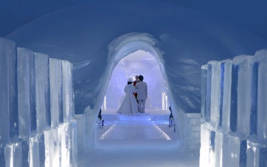 Hoshino Resort Tomamu Magical Ice Chapel Wedding Ski Hokkaido