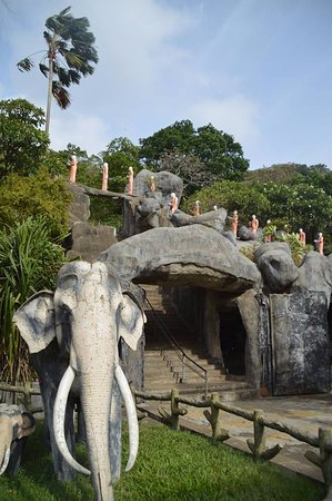 Dambulla, Sri Lanka: Jardines de la parte inferior del templo