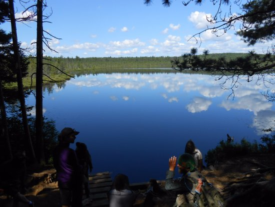 Algonquin Provincial Park, Καναδάς: Sky, water, and our group members