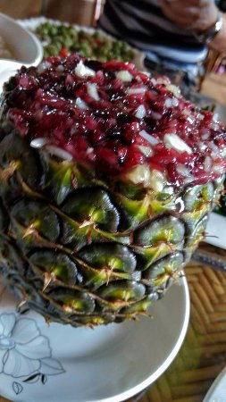 Jinghong, China: Xishuangbanna - pineapple rice