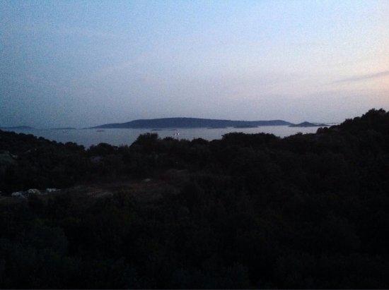 Ciovo Island, Croatia: Utsikt från den översta lägenheten