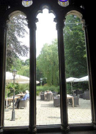 Appingedam, The Netherlands: Part of the terrace in the park.