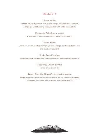 Matterhorn Restaurant @ Powderhorn : Menu 2017 Page 4