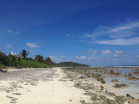 Nauru: This area has the longest stretch of sandy beach on the island.