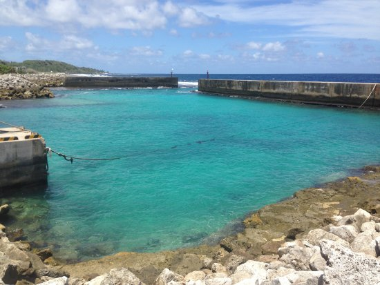 Nauru: A boat harbor nearby (without any fishing boats). It is actually a great place for snorkeling!