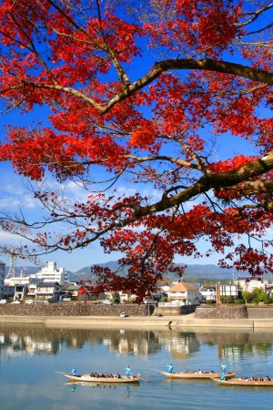 Hitoyoshi, Japão: 錦秋の川下り1