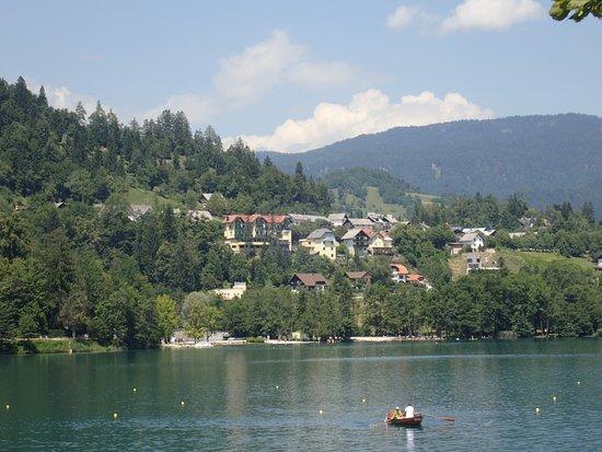 تريجلاف بليد: View of the hotel from the island