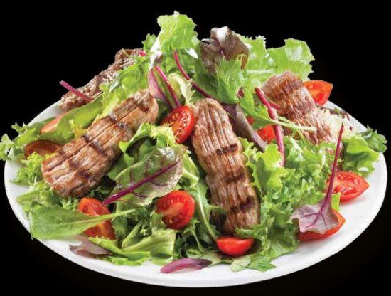Nea Smirni, Greece: super healthy salad with black angus