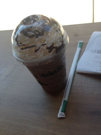 Starbucks: frappuccino al cioccolato con panna
