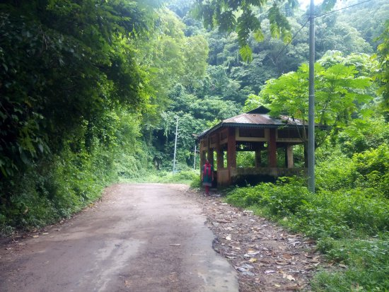 Agartala, Indien: Isolated bus stop on our way back from Jampui