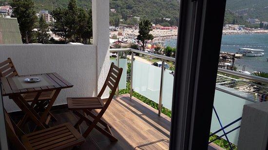 Canj, Μαυροβούνιο: Terasa sobe br 1S..Predivan pogled na ceo zaliv i plazu...