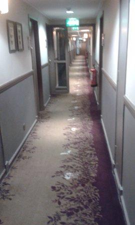 Dunblane, UK: corridor to rooms