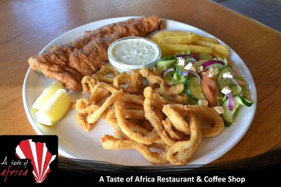 Colchester, South Africa: Hake, calamari and chips made to perfection