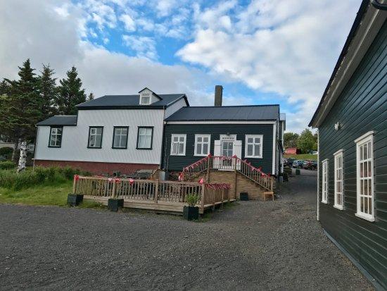 Borgarnes, Iceland: The extrior of the restaurant