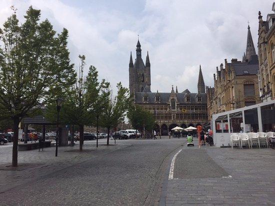 Ieper (Ypres), Belgium: The Square as you go through the Menim Gate