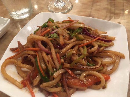 Monticello, NY: pork udon noodles