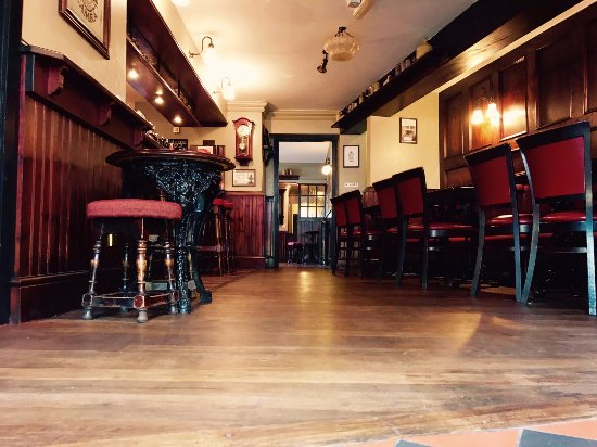 Glossop, UK: Newly decorated front bar with oak flooring.