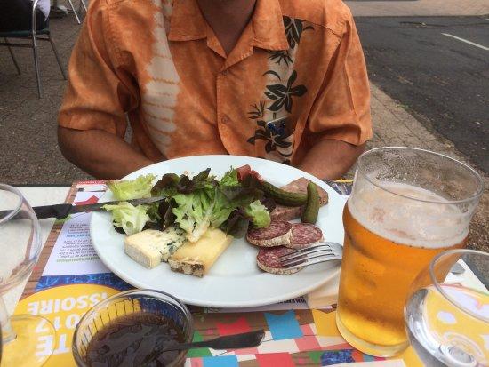 Issoire, Fransa: Assiette de la brasserie