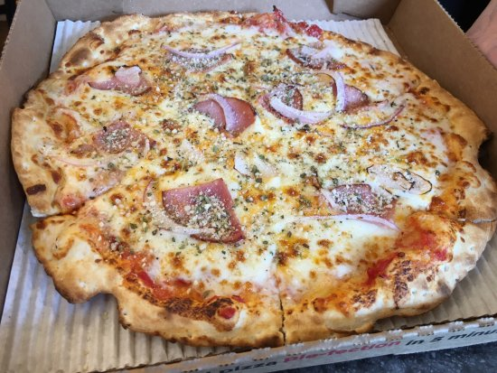 Allen, TX: Cheese, Canadian bacon, and onion pizza!