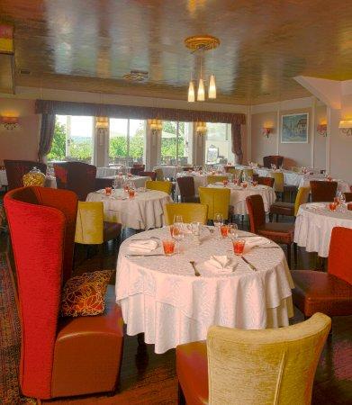 La Coquille, Франция: salle du restaurant les Voyageurs en Perigord vert spécialités foie gras autruche et truffe