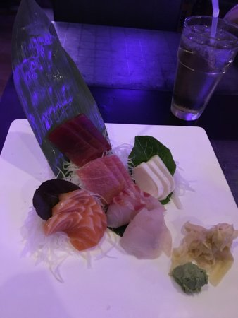 Huntington Station, NY: sashimi presentation