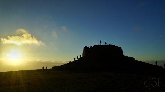 Mold, UK: Moel Famau summit at sunset