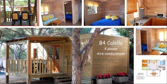 Camping La Siesta - Calella de Palafrugell: Bungalow Calella - 4 plazas
