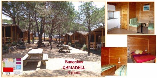 Camping La Siesta - Calella de Palafrugell: Bungalow Canadell - 4 plazas