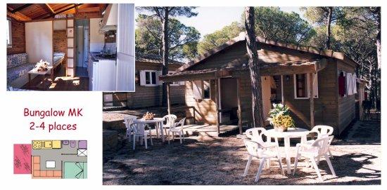 Camping La Siesta - Calella de Palafrugell: Bungalow MK - 4 plazas