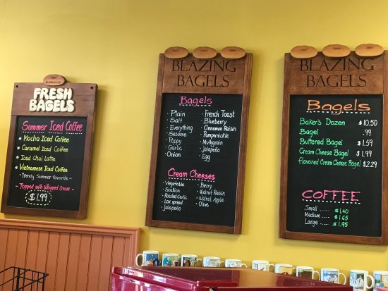 Montgomery, NY: Partial menu items