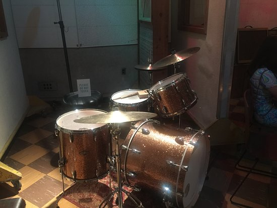 RCA Studio B: Drum kit in the studio . . .